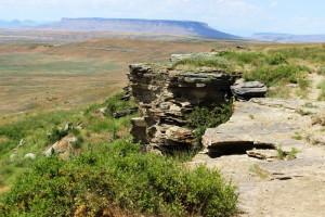 First Peoples Buffalo Jump Cliffs From Above