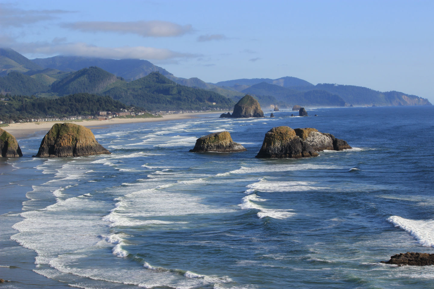 View of Haystack Rock from Ecola State Park