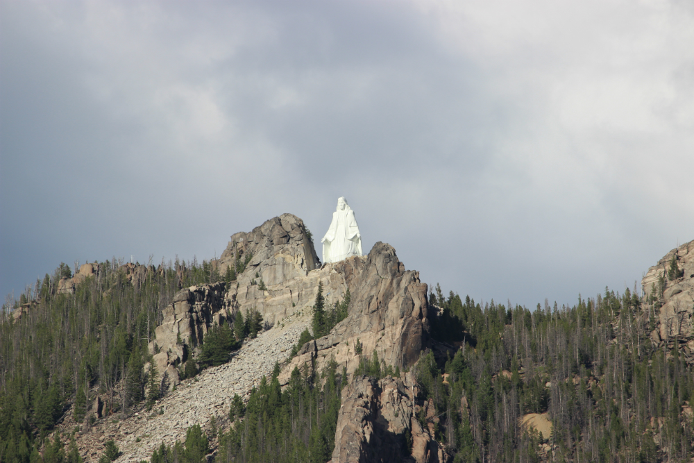 Our Lady of the Rockies east of Butte, Montana